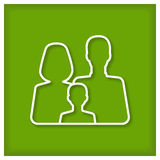 Family Icon. For web design, logotyps, stickers, signs ets Royalty Free Stock Images