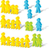 Family icons. Illustration of simple family people and relation Royalty Free Stock Photo