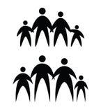 Family icons Stock Photos