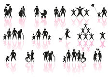Family icons Royalty Free Stock Photography