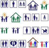 Family icons Royalty Free Stock Images