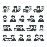 Family icons. Authors illustration in Royalty Free Stock Photo
