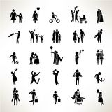 Family icons, family people Stock Photography