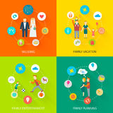Family Icons Flat Stock Photo