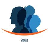 Family icons head Royalty Free Stock Photography