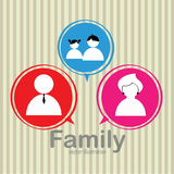 Family icons Royalty Free Stock Photos
