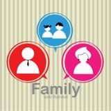 Family icons Royalty Free Stock Photos