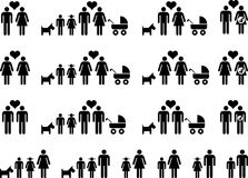 Family icons Stock Photography