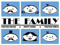 The  family icons Royalty Free Stock Photo