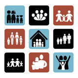 Family icons. Over white background vector illustration vector illustration