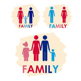 Family icons Stock Images