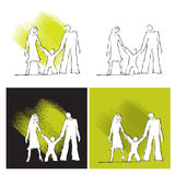 Family icons, set Stock Images