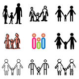 Family icons set. Good family icons vector set stock illustration