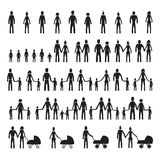 Family icons set. Set of family icons Stock Photography