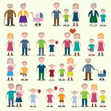 Family icons set Royalty Free Stock Photo