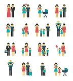 Family icons set Stock Photo