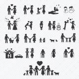 Family icons set. illustration Royalty Free Stock Photos