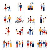 Family Icons Set Stock Image