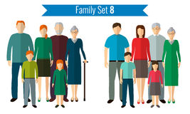 Family icons set. Traditional culture, national family. Vector Royalty Free Stock Photos