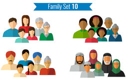 Family icons set. Traditional culture, national family. Vector Stock Photography