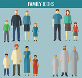 Family icons set. Traditional Culture. Vector. Illustration Royalty Free Stock Image