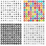 100 family icons set variant. 100 family icons set in 4 variant for any web design isolated on white stock illustration