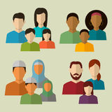Family icons set. Vector. Illustration Stock Photos