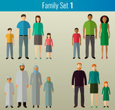 Family icons set. Vector. Family icons set. Traditional Culture. Vector illustration Royalty Free Stock Images