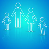 Family icons Royalty Free Stock Image