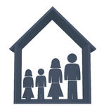 Family illustration Royalty Free Stock Photography