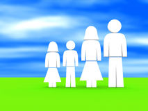 Family illustration Stock Image