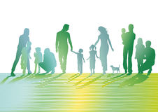 Illustration of families  Stock Image