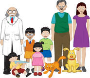 Family illustration Stock Photos