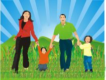 Family illustration Royalty Free Stock Photos
