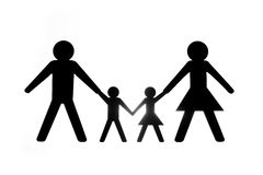 Family illustration holding hands Stock Image
