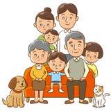 Family. An Illustration of family on sofa Royalty Free Stock Photos