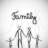 Family illustration Royalty Free Stock Photos