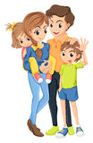 A family. Illustration of a family on a white background Royalty Free Stock Photography