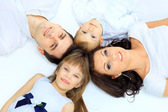 Family imitate a circle Royalty Free Stock Photos
