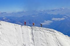 Free Family In Aiguille Du Midi Stock Photo - 140034060