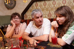 Family In Asian Restaurant Stock Images