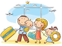 Free Family In The Airport Stock Image - 44489021