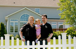 Free Family In Their Backyard Royalty Free Stock Photography - 5666807