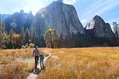 Family In Yosemite Royalty Free Stock Photos