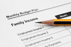 Family income stock photo