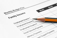 Family income Stock Photos