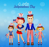 Family Independence Day Stock Photo