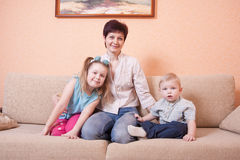 Family indoor Stock Images
