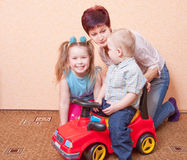 Family indoor Royalty Free Stock Photography