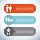Family infographic Stock Photography